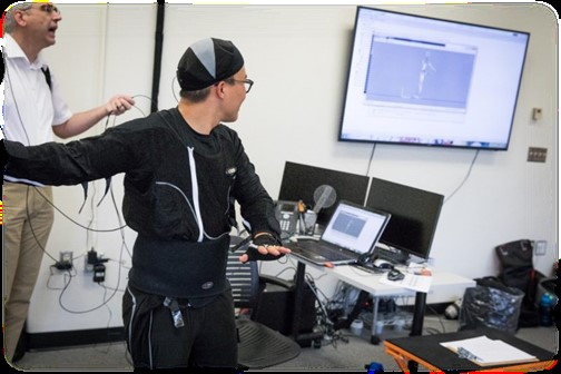 Motion capture suit for data collection