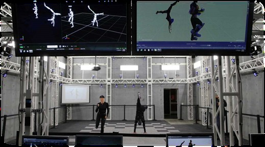 Sensors and cameras at work on motion capturing