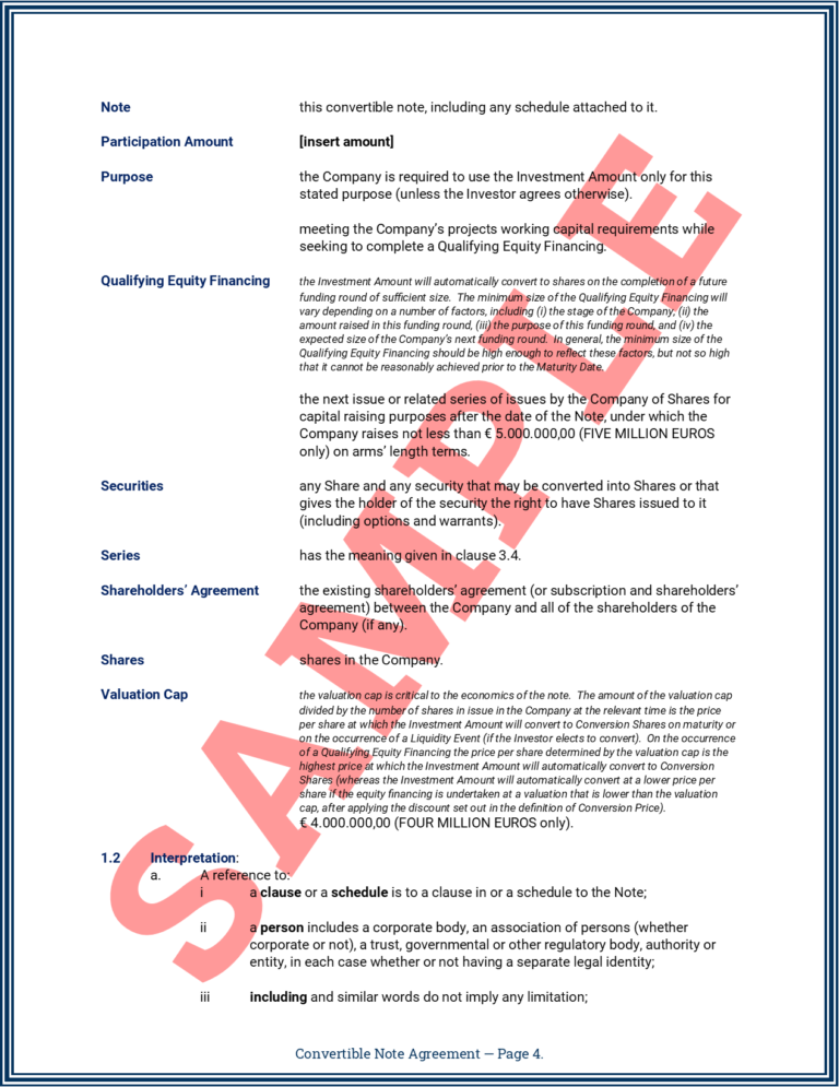 Convertible Note Agreement Page 4