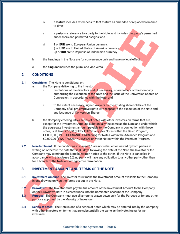 Convertible Note Agreement Page 5